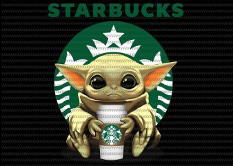 Baby yoda starbucks png, Baby Yoda, The Mandalorian The Child Christmas png , Baby Yoda Png, star wars png, The Child png t shirt template