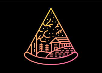 Wilderness Pizza vector shirt design