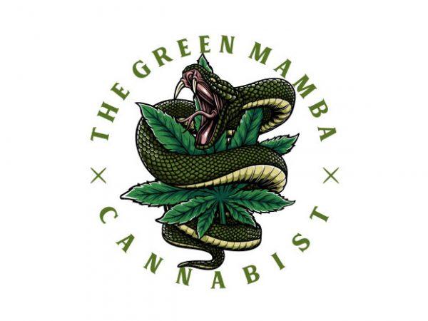 Green Mamba Vector t-shirt design