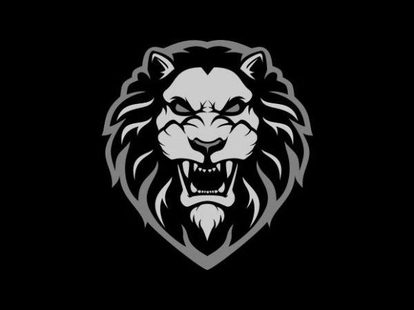 lion head Vector t-shirt design