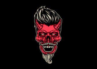 red devil Vector t-shirt design
