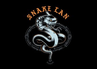 snake lan Vector t-shirt design