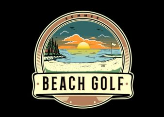 Beach Golf Vector t-shirt design