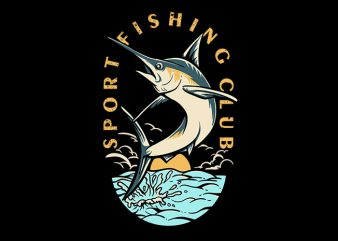 Sport Fishing Club Vector t-shirt design