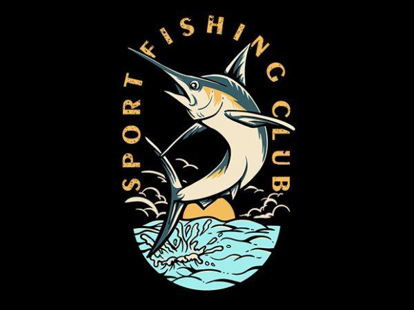 Sport Fishing Club Vector t-shirt design