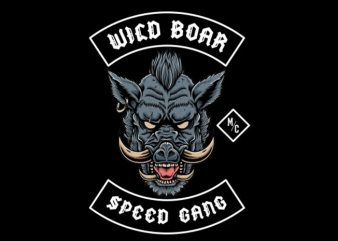 wild boar speed Vector t-shirt design