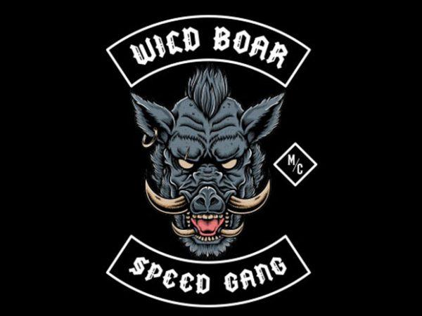 wild boar speed Vector t-shirt design