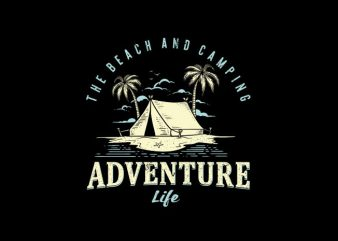 adventure camping Vector t-shirt design