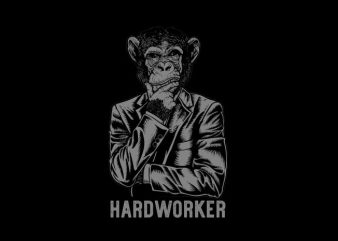 hardworker Vector t-shirt design