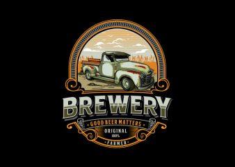 Brewery Vector t-shirt design