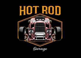 hotrod Vector t-shirt design