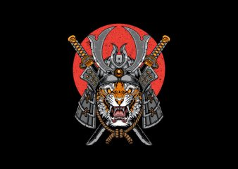 Samurai TigerVector t-shirt design