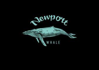Whale Vector t-shirt design