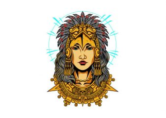Aztec Women Vector t-shirt design