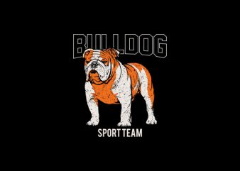 Bulldog sport team Vector t-shirt design
