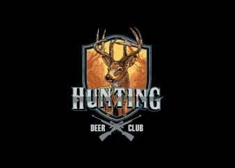 Hunting Deer club Vector t-shirt design