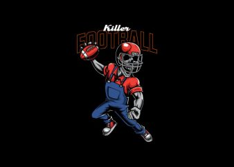 Killer Football Vector t-shirt design