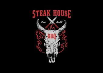 Steak House Vector t-shirt design