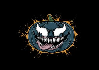Pumpkin Venom Vector t-shirt design