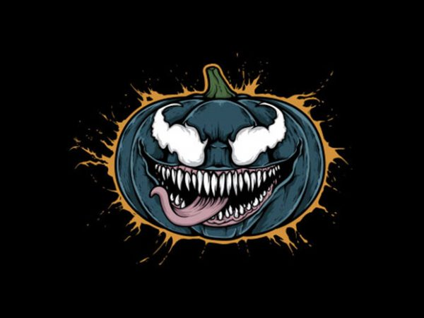 Pumpkin Venom Vector t-shirt design