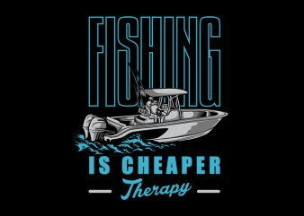 Fishing Boat Vector t-shirt design