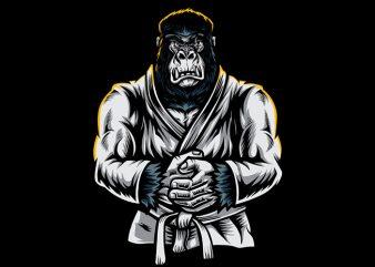 Jiu Jitsu Gorilla Vector t-shirt design
