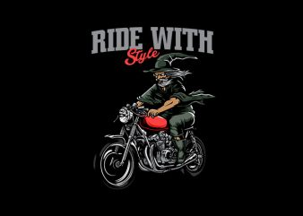 Ride With styleVector t-shirt design