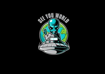 Alien Piece Vector t-shirt design
