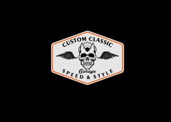 CUSTOM CLASSIC GARAGE Vector t-shirt design