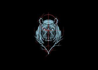 Rhino Vector t-shirt design