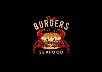 Crab Burger Vector t-shirt design