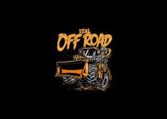 REAL OFF ROAD Vector t-shirt design
