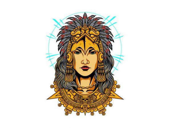 Aztec Women Vector t-shirt design