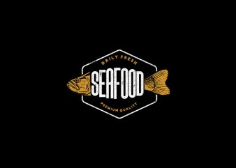 Daily Fresh Seafood Vector t-shirt design