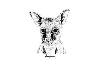 Kangaroo oVector t-shirt design