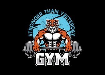 Tiger gym Vector t-shirt design