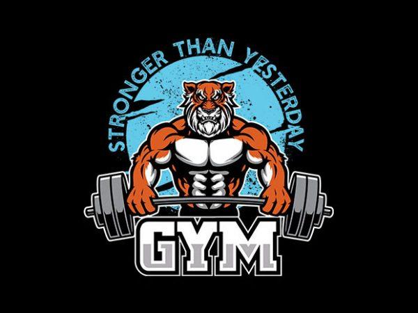 Tiger gym Vector t-shirt design