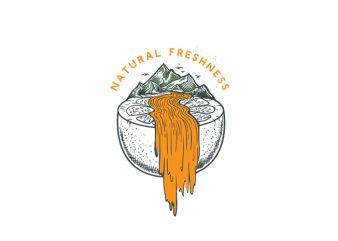 Natural Freshness Vector t-shirt design