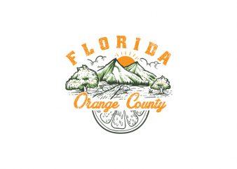 Florida Orange County Vector t-shirt design