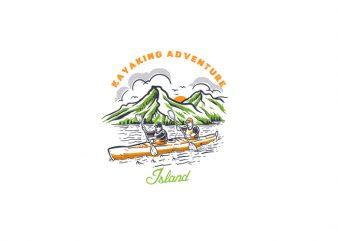 Kayaking Adventure Vector t-shirt design
