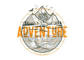 adventure trips Vector t-shirt design