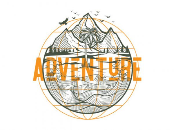 adventure trips Vector t-shirt design