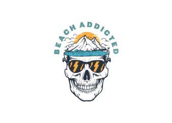 Beach Addicted Vector t-shirt design
