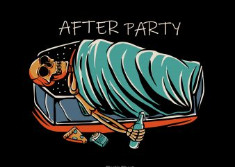 after party t shirt vector