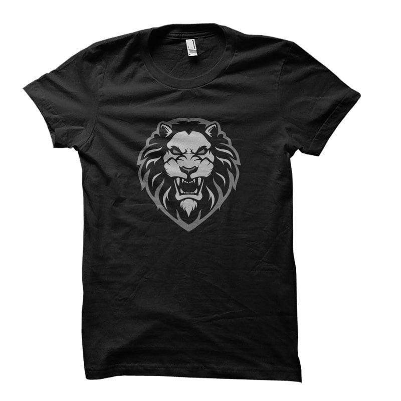 lion head Vector t-shirt design vector shirt designs