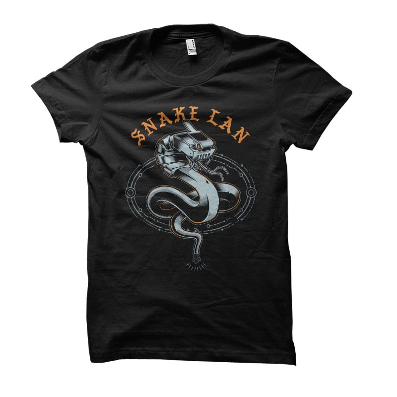 snake lan Vector t-shirt design commercial use t shirt designs