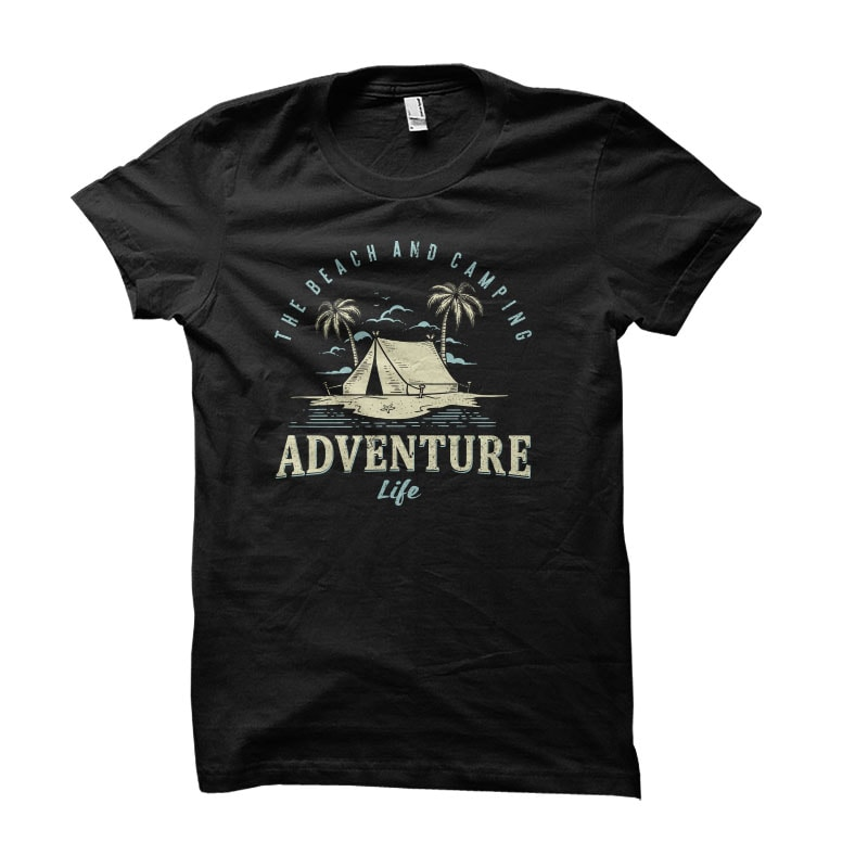 adventure camping Vector t-shirt design t shirt designs for teespring