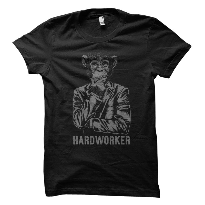 hardworker Vector t-shirt design tshirt-factory.com