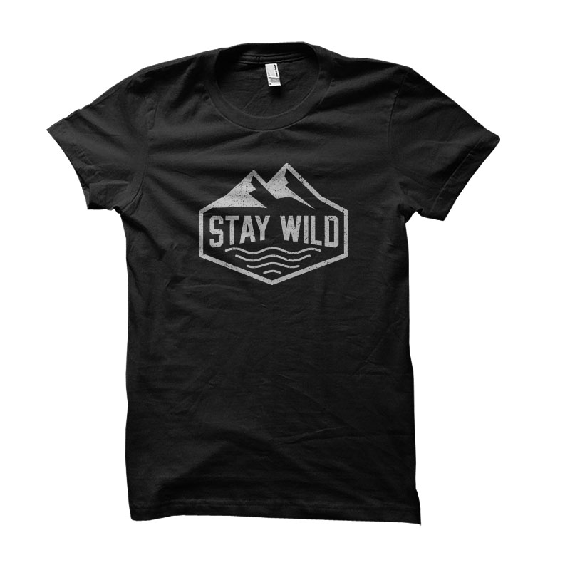 stay wild Vector t-shirt design t shirt designs for printify