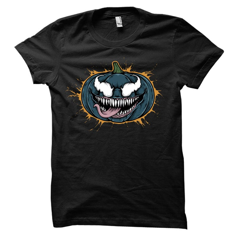 Pumpkin Venom Vector t-shirt design buy t shirt design